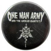 One Man Army and the Undead Quartet - 'Logo' Button Badge